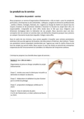 Business Plan Agence-evenementielle Page 4