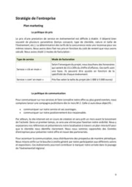 Business Plan Agence-evenementielle Page 9